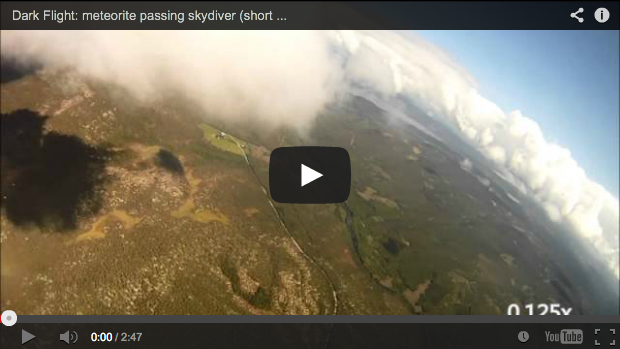 Anders Helstrup, Norwegian Skydiver Records Meteorite